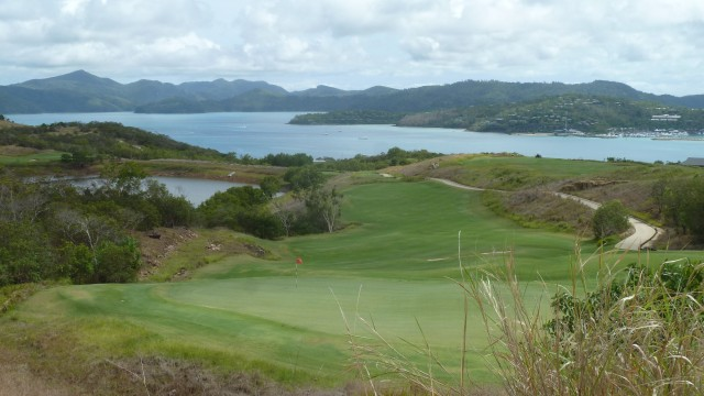 Looking back from the 10th tee at Hamilton Island Golf Club
