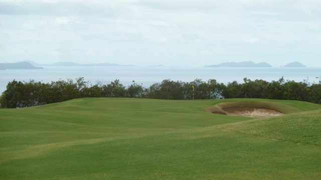 View of the 13th green at Hamilton Island Golf Club