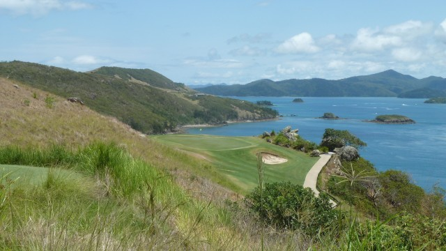 Scenic view from the 16th tee at Hamilton Island Golf Club