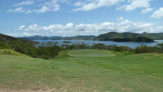 Looking down to 17th green at Hamilton Island Golf Club