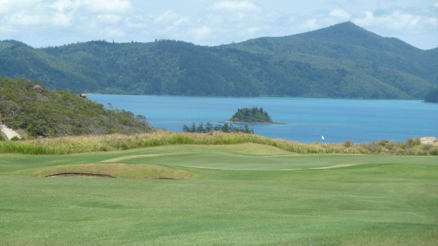 View of the 18th green at Hamilton Island Golf Club