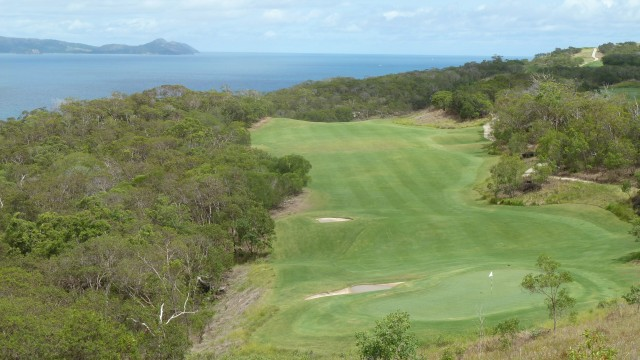 Looking back from the 6th green at Hamilton Island Golf Club
