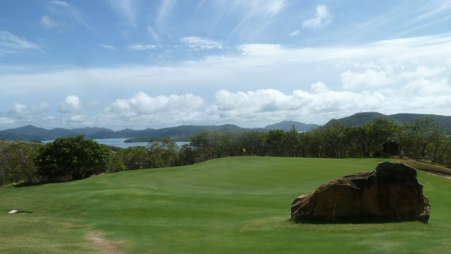 Looking across at the 7th green at Hamilton Island Golf Club