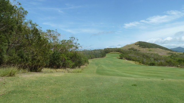 View after leaving the 8th tee at Hamilton Island Golf Club