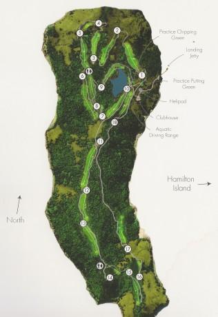 Course map for Hamilton Island Golf Club