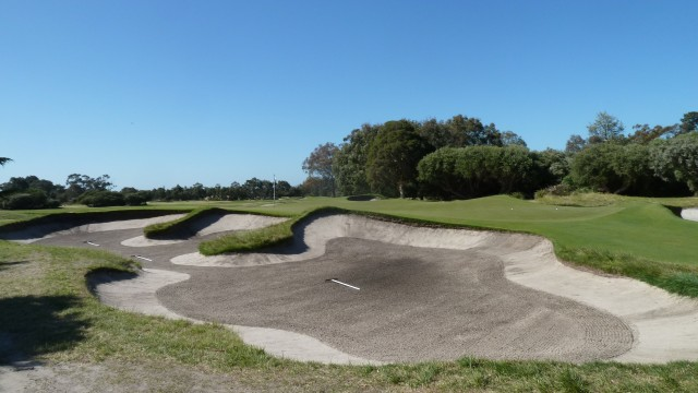 The 10th green at Kingston Heath Golf Club