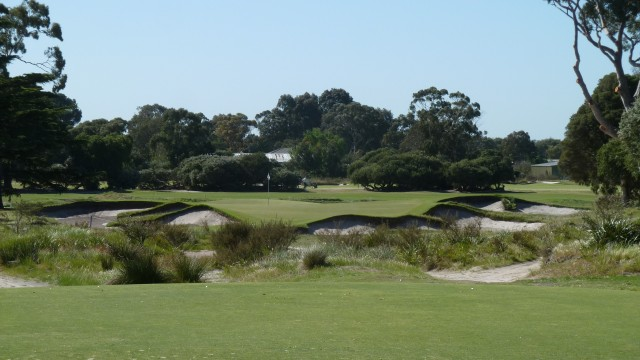 The 10th tee at Kingston Heath Golf Club