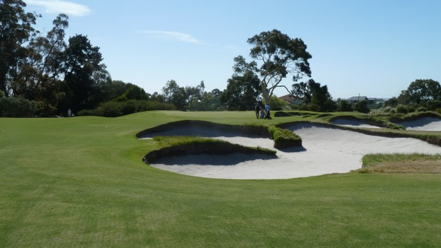 The 11th green at Kingston Heath Golf Club