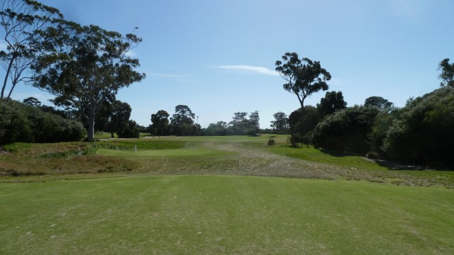 The 11th tee at Kingston Heath Golf Club
