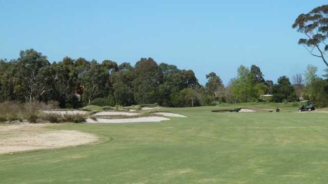 The 12th fairway at Kingston Heath Golf Club