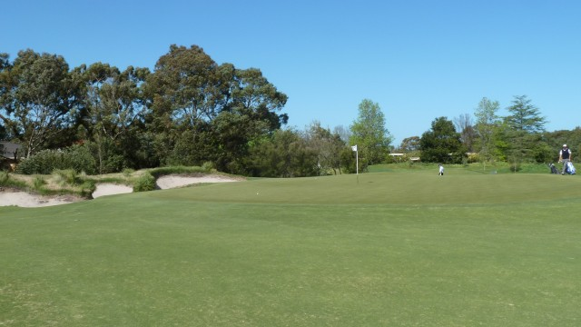 The 12th green at Kingston Heath Golf Club