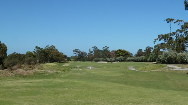 The 12th tee at Kingston Heath Golf Club