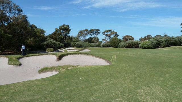 The 14th fairway at Kingston Heath Golf Club