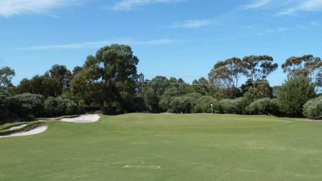 The 14th green at Kingston Heath Golf Club