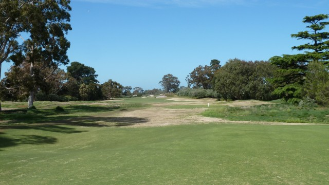 The 14th tee at Kingston Heath Golf Club