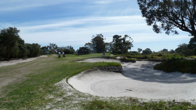 The 15th fairway at Kingston Heath Golf Club
