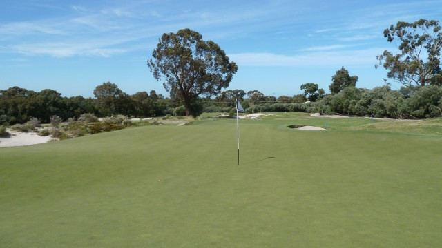 The 15th green at Kingston Heath Golf Club
