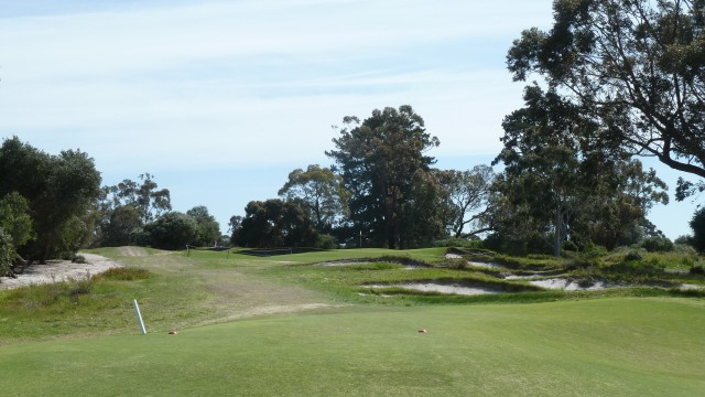 The 15th tee at Kingston Heath Golf Club