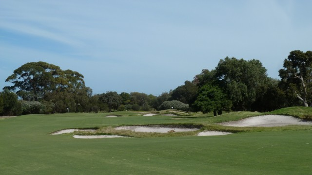 The 16th fairway at Kingston Heath Golf Club