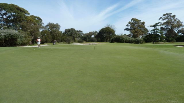 The 16th green at Kingston Heath Golf Club
