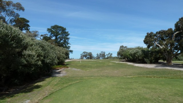 The 16th tee at Kingston Heath Golf Club