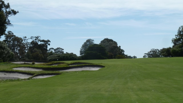 The 17th fairway at Kingston Heath Golf Club