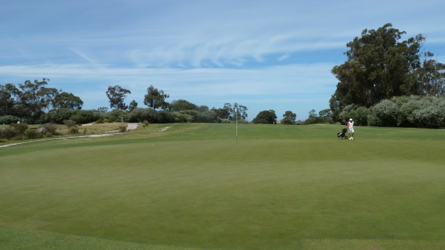 The 17th green at Kingston Heath Golf Club