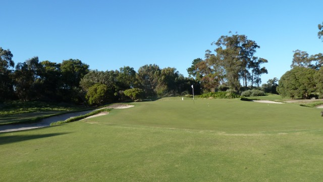 The 19th green at Kingston Heath Golf Club