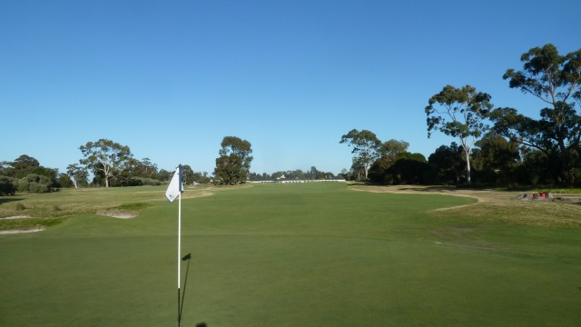 The 1st green at Kingston Heath Golf Club
