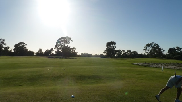The 1st tee at Kingston Heath Golf Club