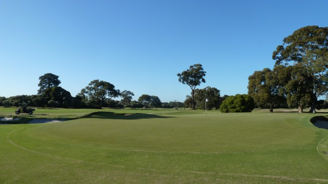 The 2nd green at Kingston Heath Golf Club