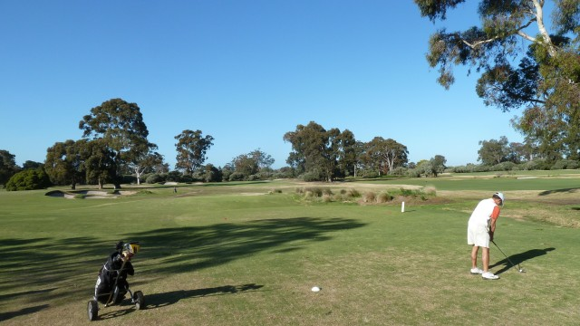 The 3rd tee at Kingston Heath Golf Club