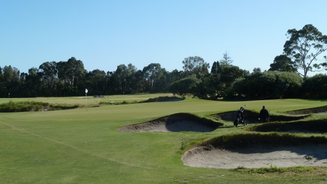 The 4th green at Kingston Heath Golf Club