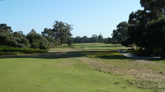 The 4th tee at Kingston Heath Golf Club