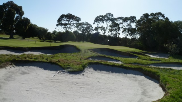 The 5th green at Kingston Heath Golf Club