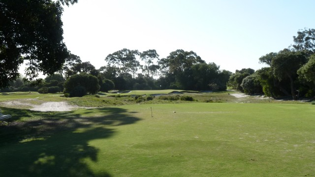 The 5th tee at Kingston Heath Golf Club
