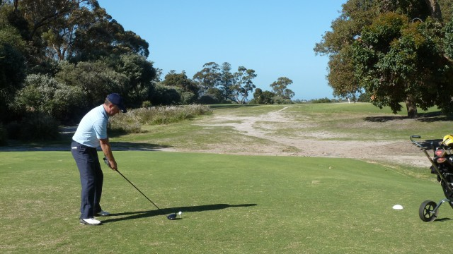 The 8th tee at Kingston Heath Golf Club