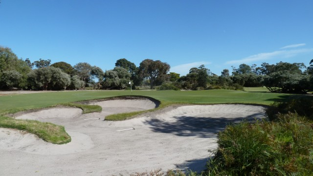 The 9th green at Kingston Heath Golf Club