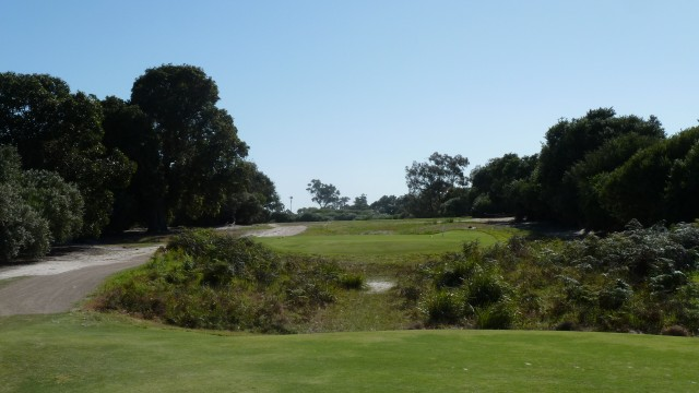 The 9th tee at Kingston Heath Golf Club