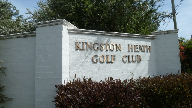 The entrance at Kingston Heath Golf Club
