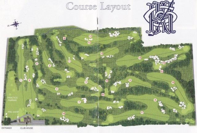 Course map for Kingston Heath Golf Club
