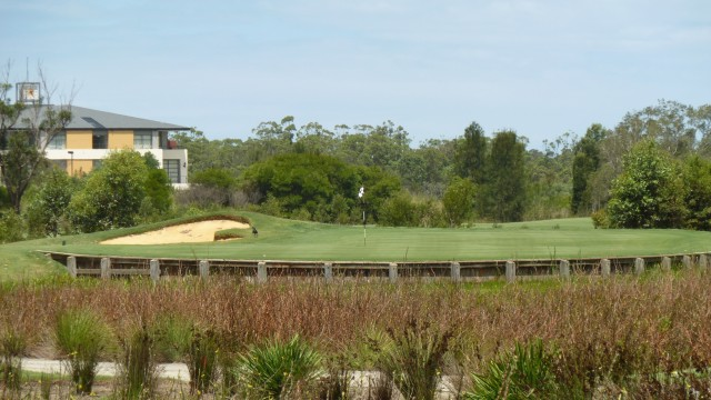The 17th green at Kooindah Waters Golf Club