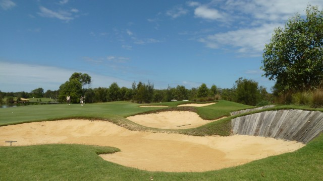 The 18th green at Kooindah Waters Golf Club