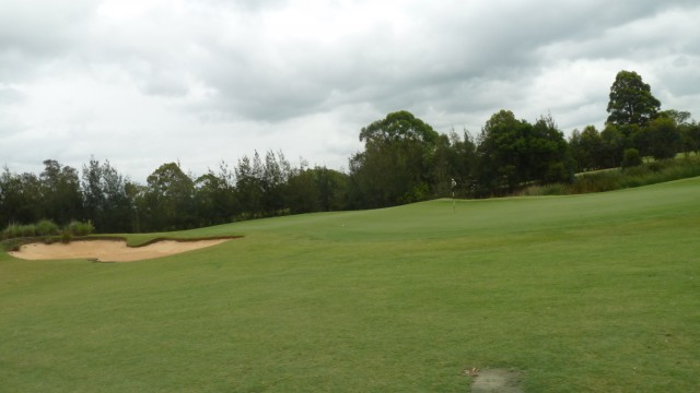 The 3rd green at Kooindah Waters Golf Club