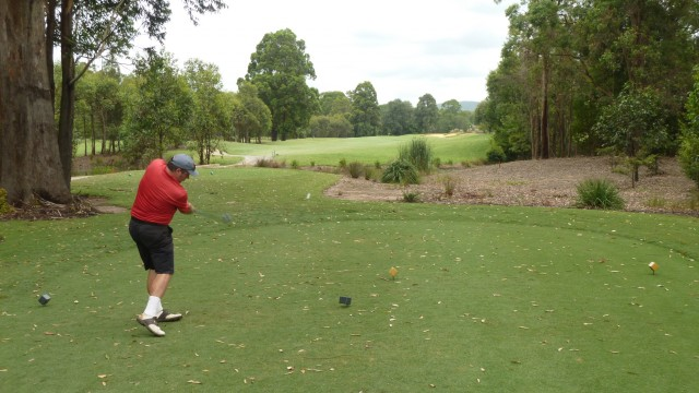 Me teeing off on the 7th at Kooindah Waters Golf Club