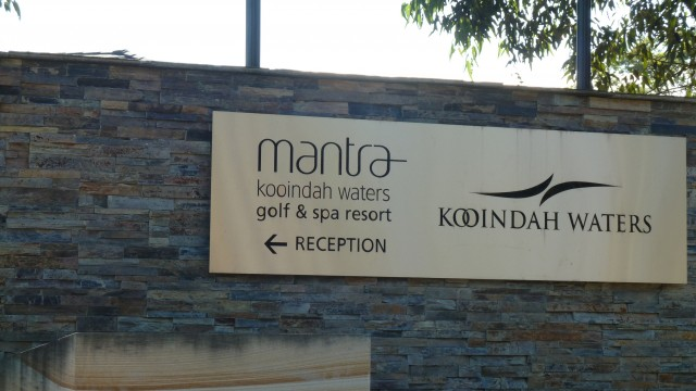 The entrance to Kooindah Waters Golf Club