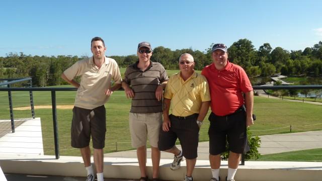Playing partners Brendan, John, Joe and myself at Kooindah Waters Golf Club