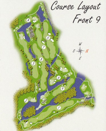 Course map for Front 9 at Kooindah Waters Golf Club