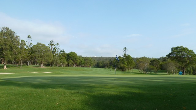 Looking back from the 10th green at Monash Country Club
