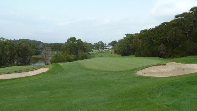 The 17th green at Monash Country Club